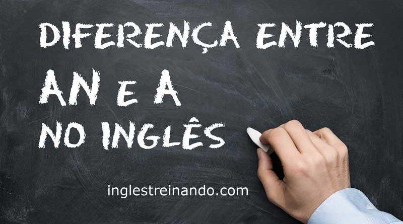 Conheça a diferença entre AN e A no Inglês
