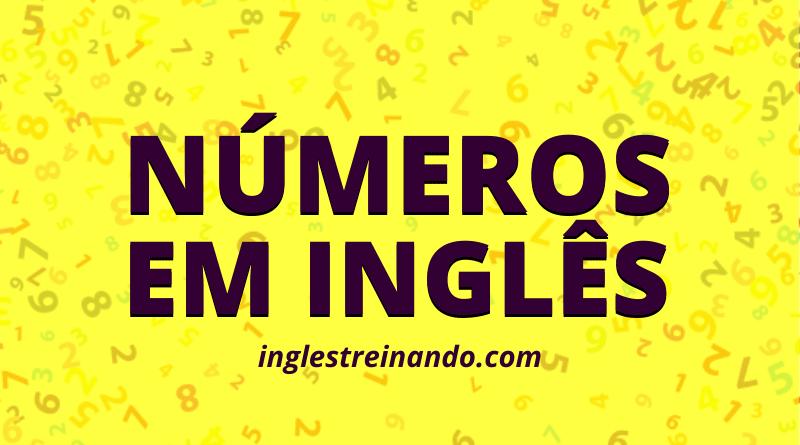 como falar os números em inglês