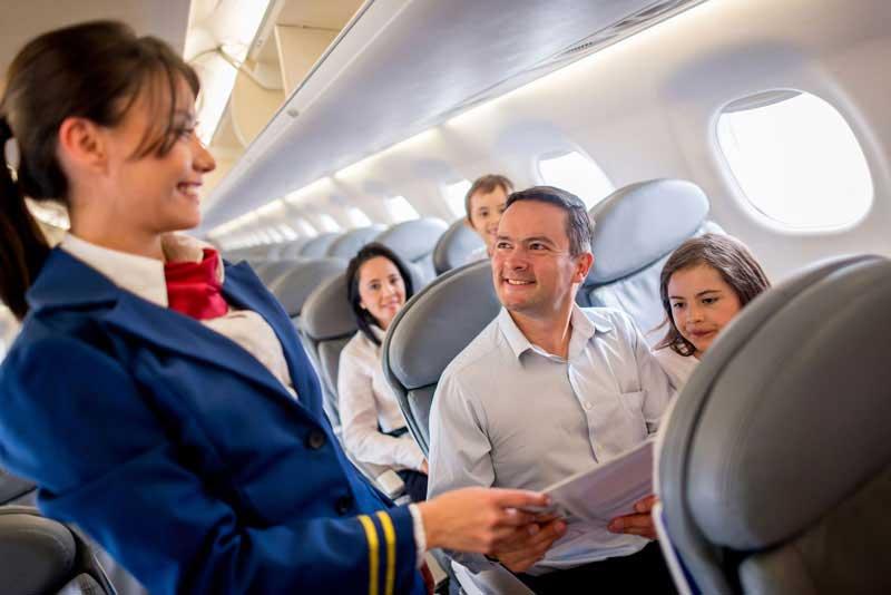 Como falar em inglês no avião