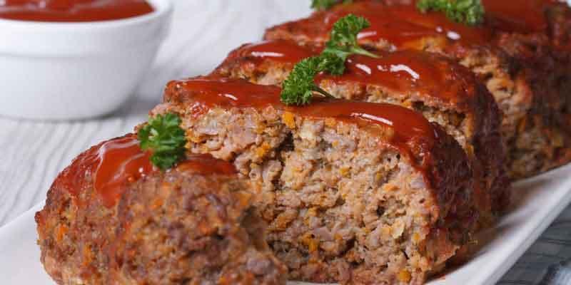 Meatloaf é um prato dos Estados Unidos