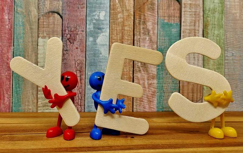 alternativas de dizer Sim em Inglês