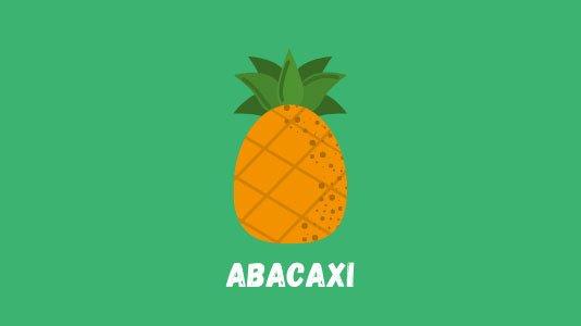 Fruta em inglês