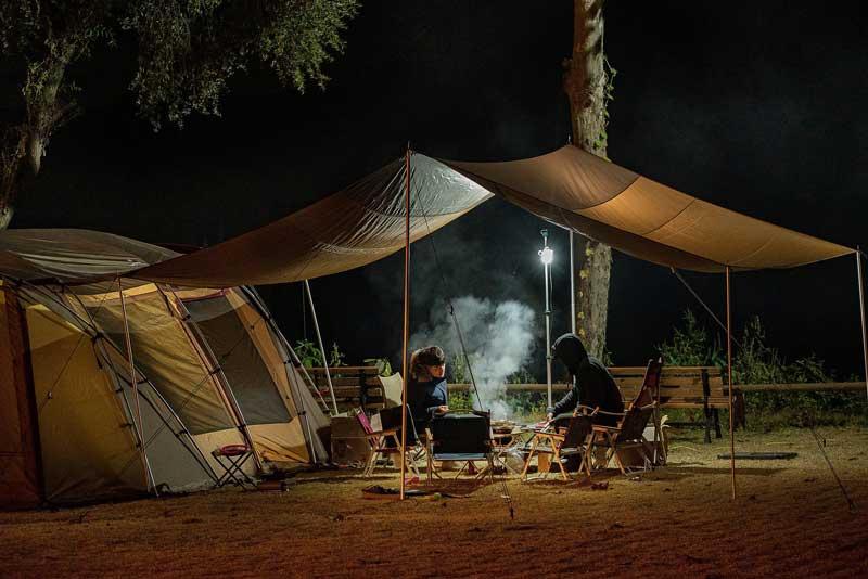 Comida de acampamento em inglês