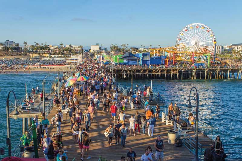 Pier Santa Monica, Califórnia